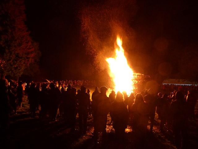 Scene at the Rectory Field in Church Stretton on Bonfire Night 2019