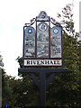 TL8217 : Rivenhall Village sign by Adrian Cable