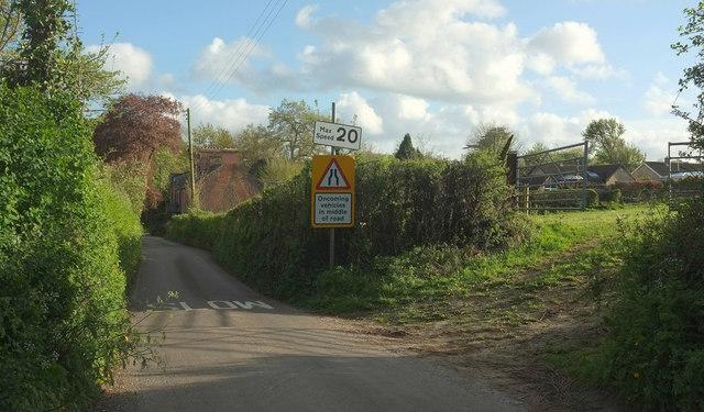 Lane approaching Holywell