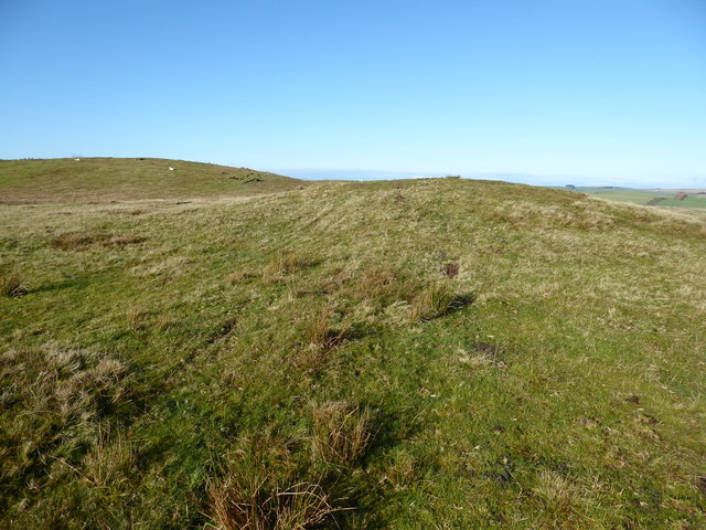 Burial mound on Cae-glas Hill