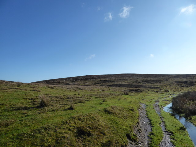 View up to a burial mound on Warren Hill
