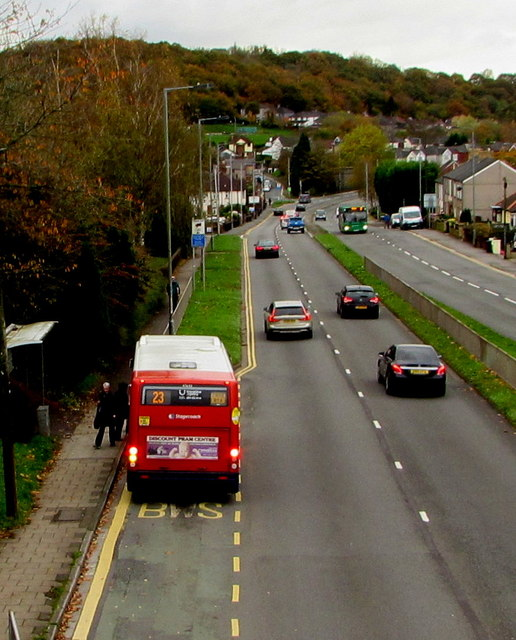Stagecoach bus on route 23, Malpas Road, Newport