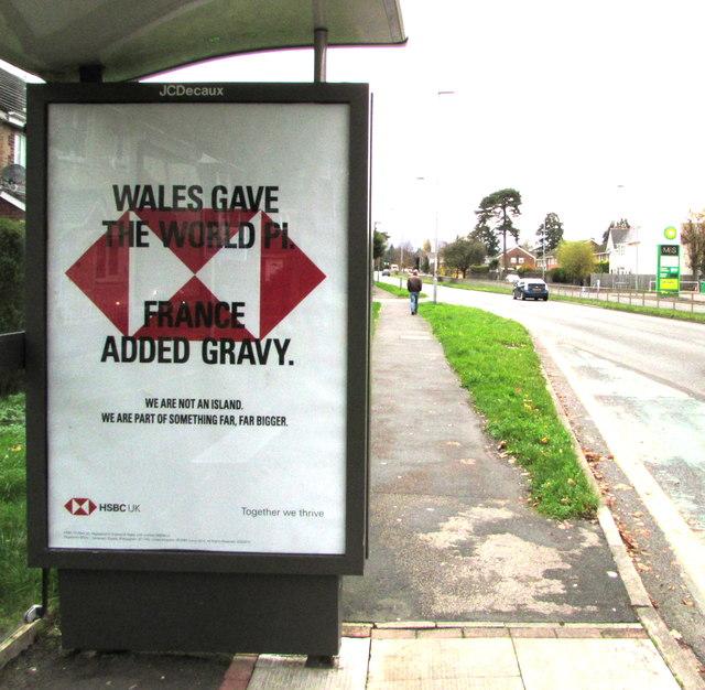 Wales Gave the World Pi, France Added Gravy, Malpas Road, Newport