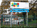 SE2234 : Sign for West SILC, Stanningley by Stephen Craven