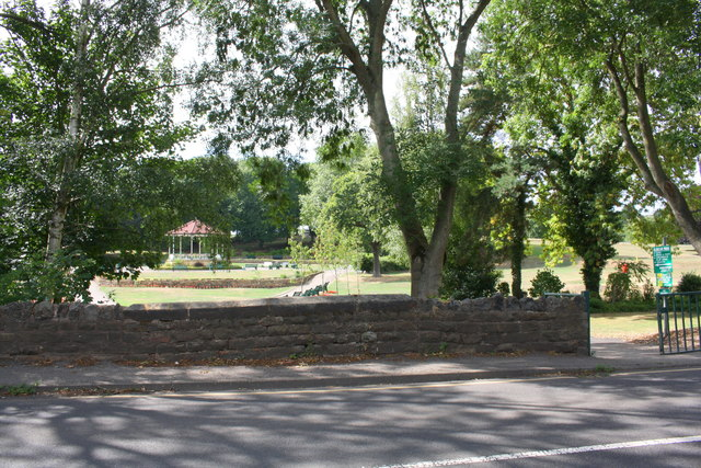 View of bandstand in Elsecar Park from Wentworth Road