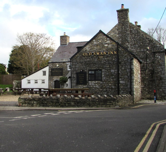 West side of the Old Swan Inn, Llantwit Major