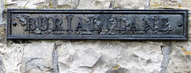 Burial Lane name sign detail, Llantwit Major