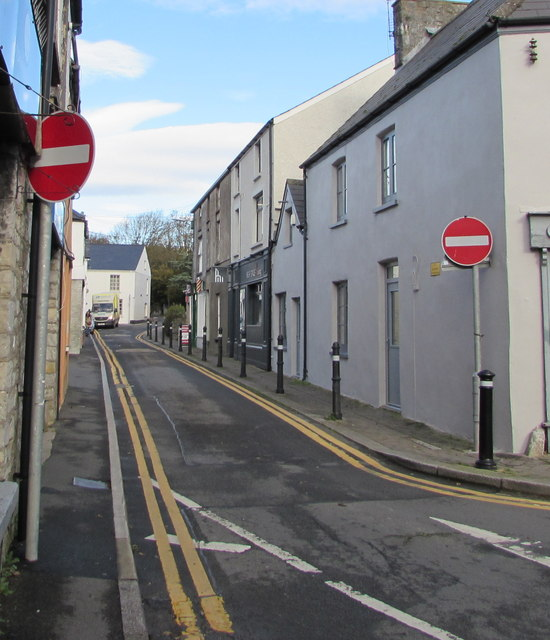 No Entry signs at the southern end of Commercial Street, Llantwit Major