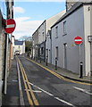 SS9668 : No Entry signs at the southern end of Commercial Street, Llantwit Major by Jaggery
