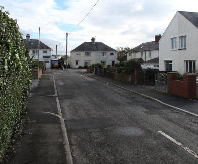 East side of Baron's Close, Llantwit Major