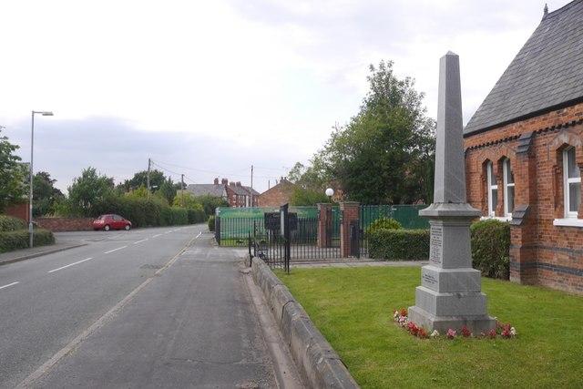 War memorial, Lostock Green