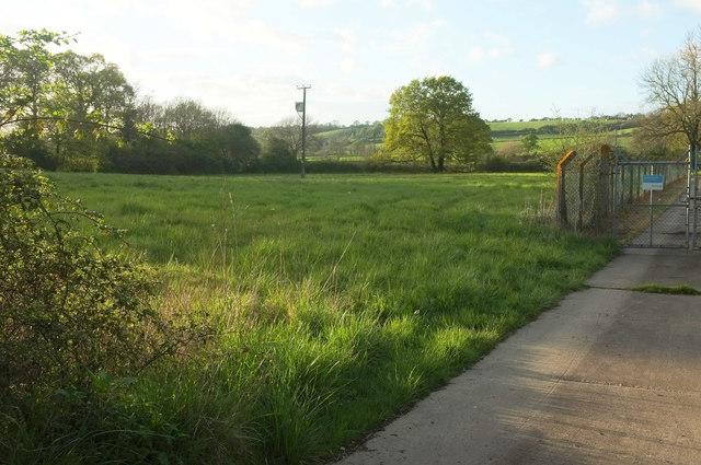 Field by Sewage Works, Chinnock Brook valley