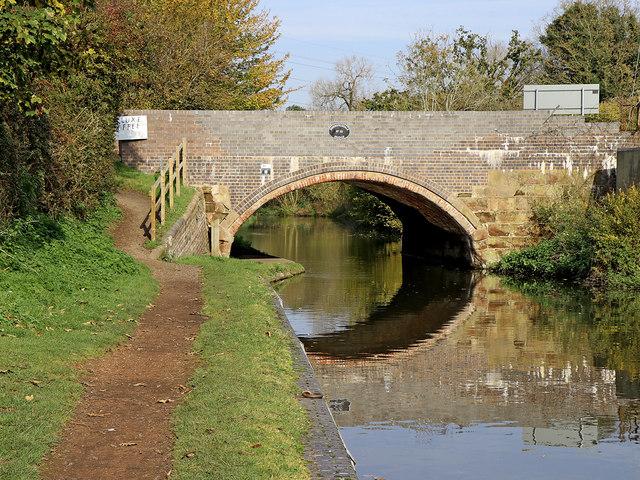 Dimmingsdale Bridge near Lower Penn in Staffordshire