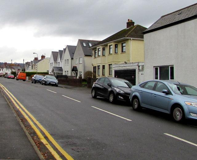 North along Heol-y-nant, Cardiff