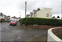 ST1580 : Hedge on a Whitchurch corner, Cardiff by Jaggery