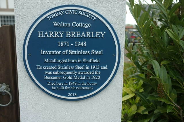 Plaque to Harry Brearley, Livermead