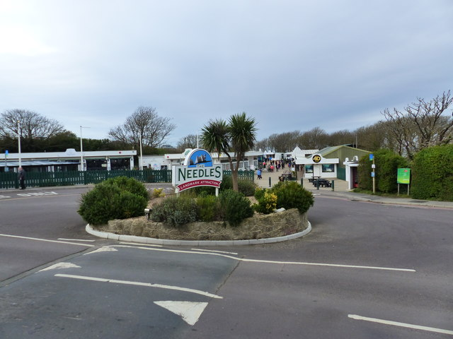 Roundabout at the Needles visitor attraction, Isle of Wight