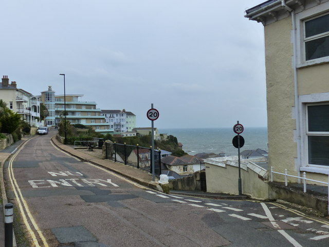 Junction of Esplanade Road with Belgrave Road, Ventnor, Isle of Wight