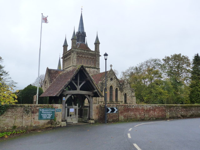 Whippingham church and lych gate, Isle of Wight