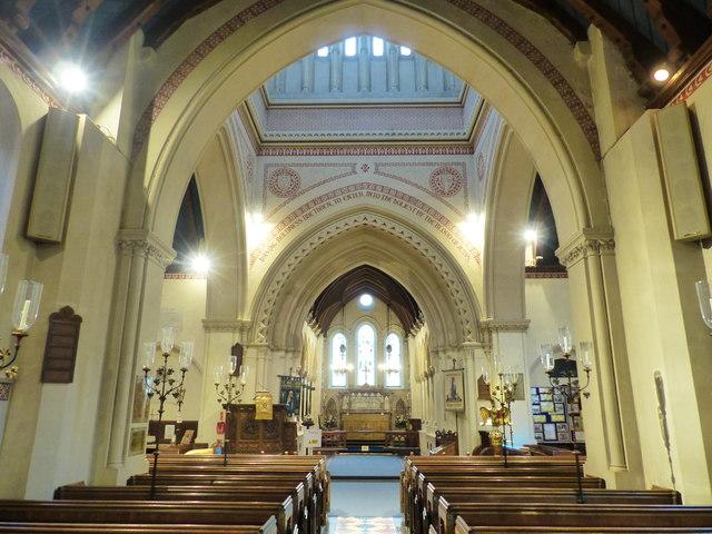 Whiuppingham church interior, Isle of Wight