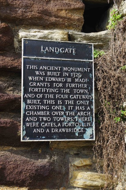 Plaque on the Landgate, Rye, East Sussex
