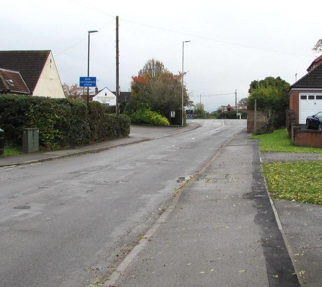 School Lane towards Bristol Road, Whitminster