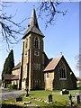 SU8735 : St Luke's Church in Grayshott, Hampshire by John P Reeves