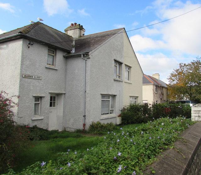 Barons Close houses,  Llantwit Major