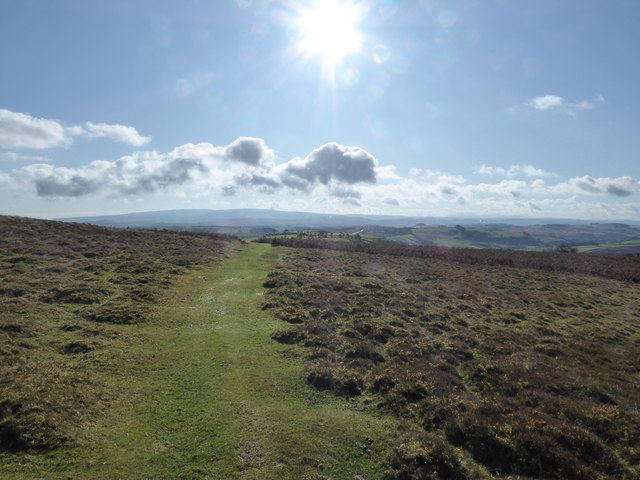 Scene on the southerly end of Tylcau Hill