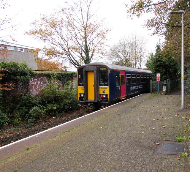 Coryton train leaving Whitchurch station, Cardiff