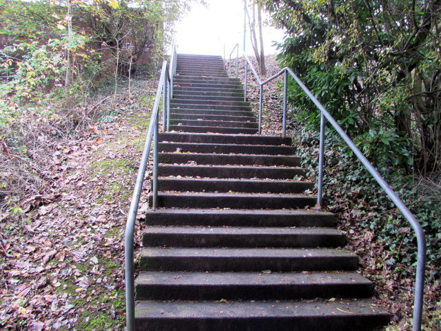 Steps up to Northern Avenue, Whitchurch, Cardiff