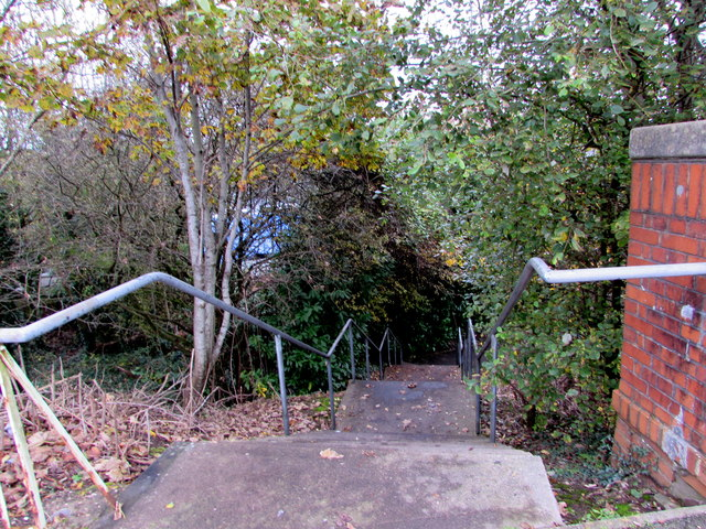 Steps down from Northern Avenue, Whitchurch, Cardiff