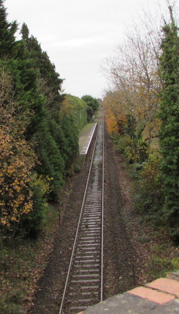 Coryton branch line through Whitchurch station, Cardiff