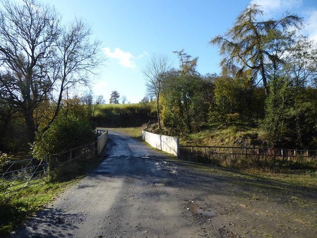 Road bridge over the Camddwr near Cwmllechwedd Fawr farm