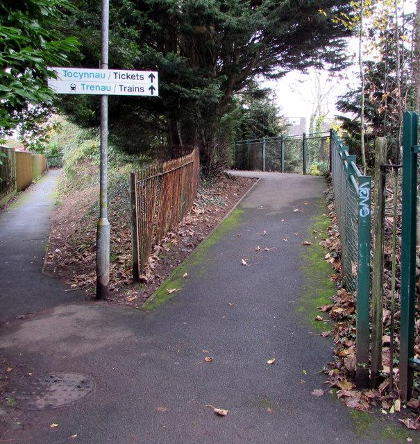 Path towards Whitchurch railway station, Cardiff