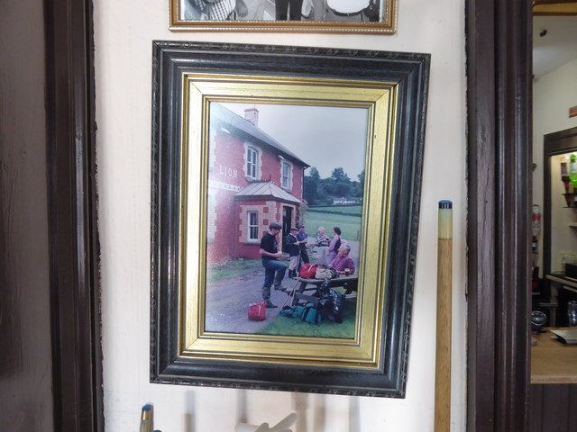 Photo in a frame inside the Lion Hotel, Llanbister