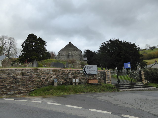 View towards St Cynllo's church in Llanbister