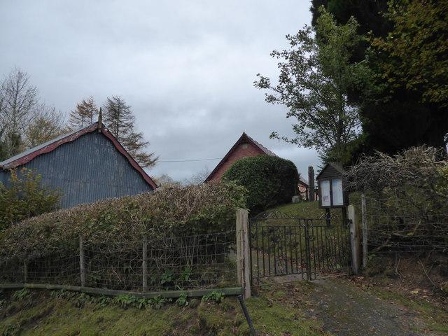 Old chapel beside the lane