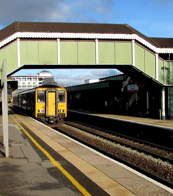 Maesteg train in Bridgend station