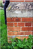 SU7167 : Benchmark on St Michael's Church, Basingstoke Road by Luke Shaw