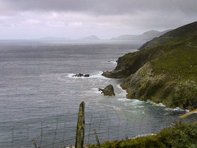 Cliffs below Slea Head Drive