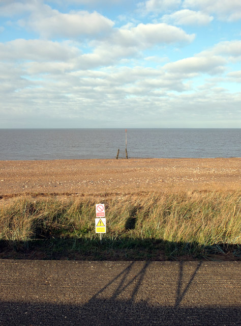 View from the sea defences, Heacham