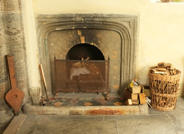 Fireplace, Church of St Andrew, Bere Ferrers