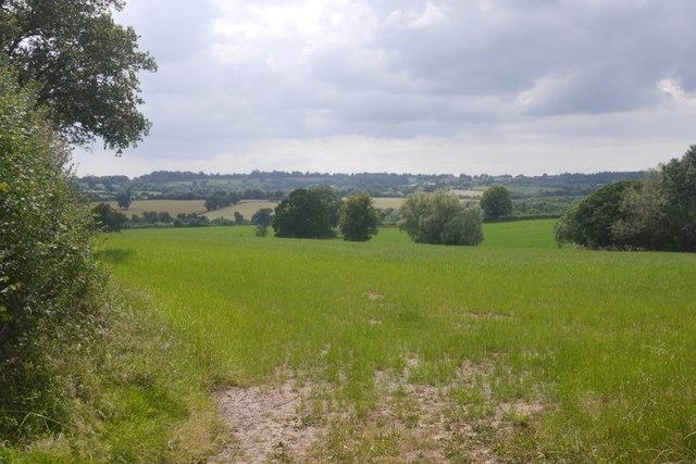 Hill country near Bromyard