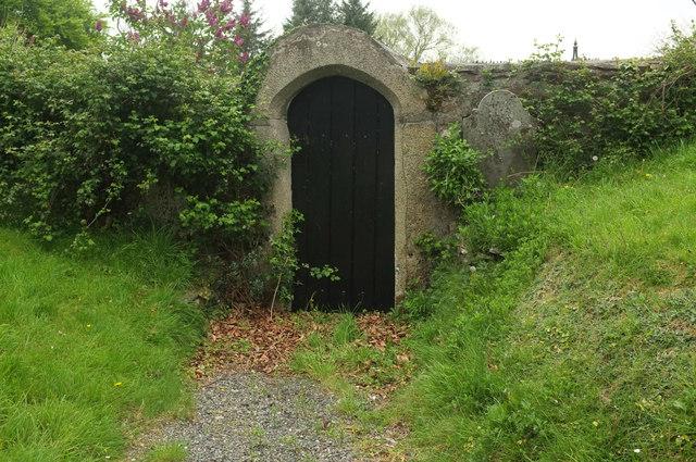 Door from the churchyard, Bere Ferrers