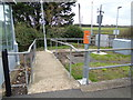 TL6484 : Entrance to Shippea Hill Railway Station by Adrian Cable