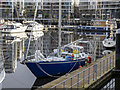 J3474 : Yacht 'Creeky' at Belfast by Rossographer