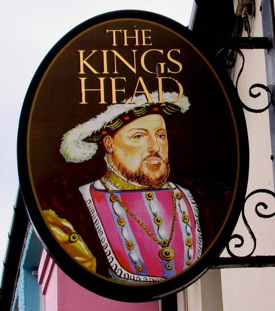 King's Head name sign, East Street, Llantwit Major