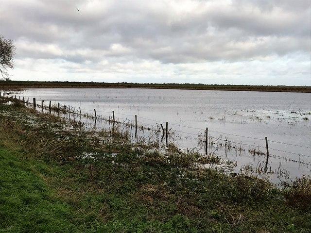 November flooding on Whittlesey Wash - The Nene Washes