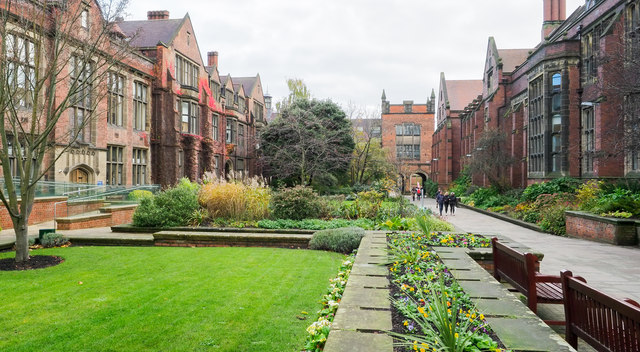 Ornamental gardens at Newcastle University